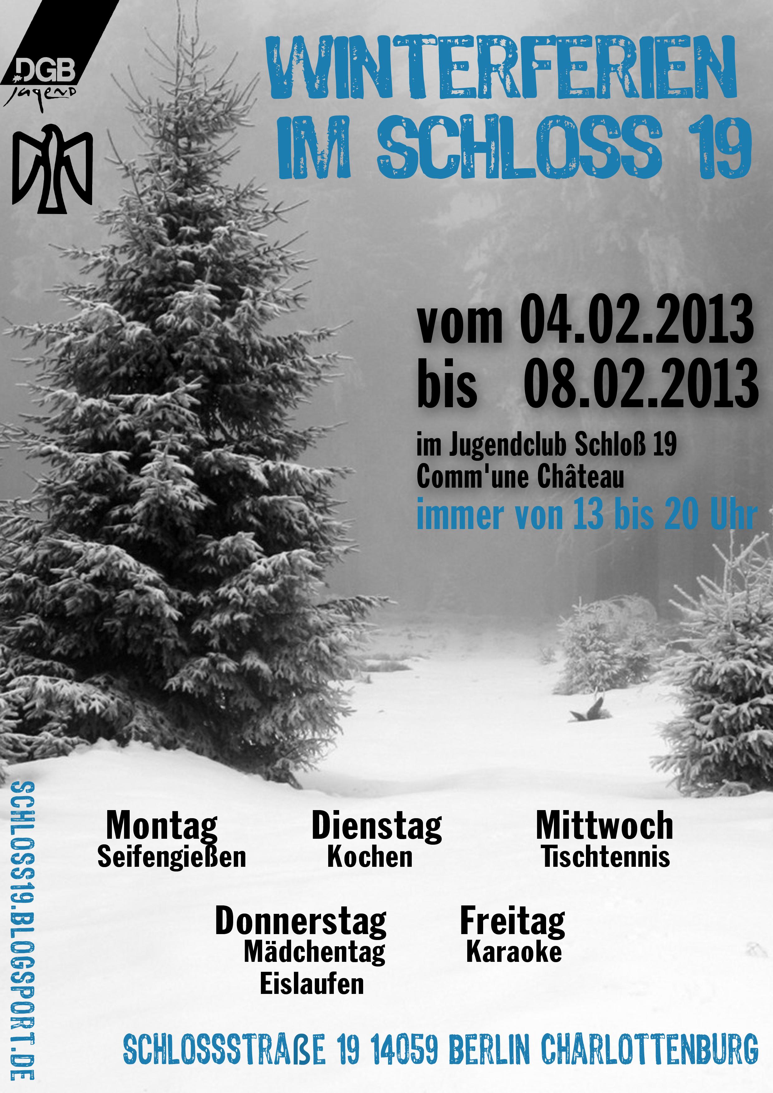 Winterferien 2013 Schloss19 falken Berlin