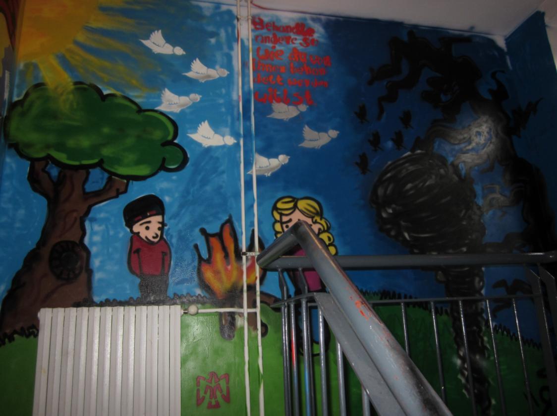 Treppenhaus-Wandbild der Reformschul-AG im Schloss19